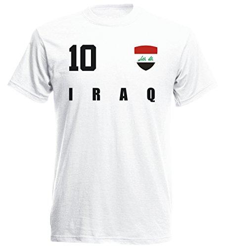 Irak WM 2018 T-Shirt Fußball Trikot Street - Weiss ALL-10 - S M L XL XXL (M)