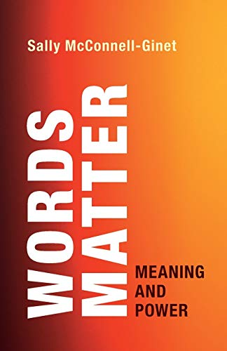Words Matter: Meaning and Power Front Cover