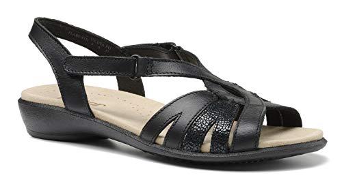 Hotter Flare Damen-Sandalen mit Klettverschluss, Schwarz - Black Jet Black Multi - Größe: 42 EU