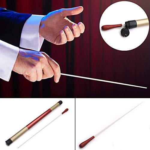 ETbotu Bacchetta di legno Bacchetta conduttore Stick Ritmo Direttore musicale Orchestra Concerto Esecuzione di manico in palissandro con tubo