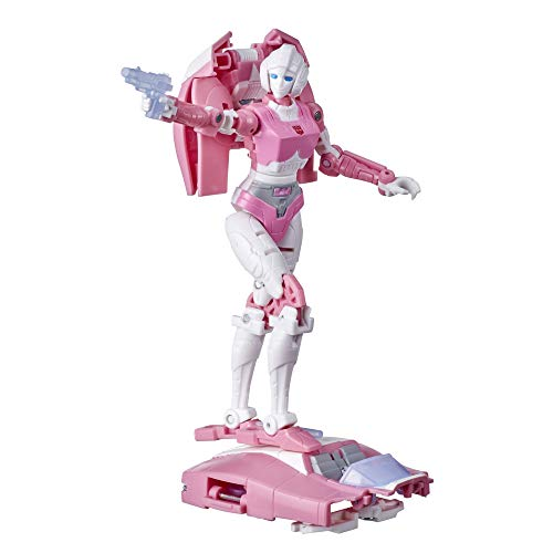 Transformers Toys Generations War for Cybertron: Kingdom Deluxe WFC-K17 Arcee Action Figure - Kids Ages 8 and Up, 5.5-inch