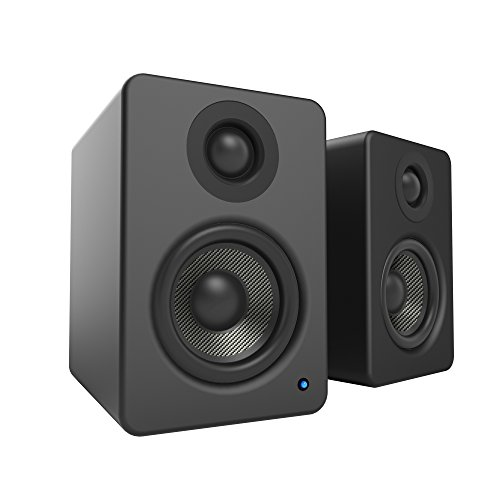 """Kanto 2 Channel Powered PC Gaming Desktop Speakers – 3"""" Composite Drivers 3/4"""" Silk Dome Tweeter – Class D Amplifier - 100 Watts - Built-in USB DAC - Subwoofer Output - YU2GW (Gloss White)"""