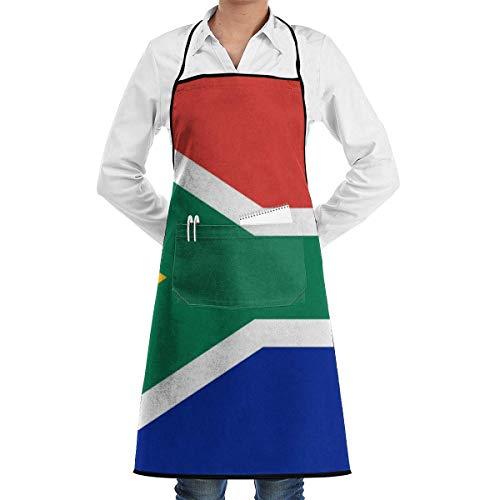Südafrikanische Flaggenschürze mit Taschen für und Frauen, Koch, Küche, Restaurant, Grill, Grill, Backen