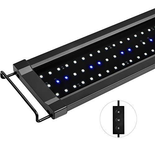NICREW ClassicLED G2 Aquarium Beleuchtung, Steuerbar LED Lampe mit Mondlicht, IP67 Wasserdicht für Süßwasser-Aquarien, 90-125cm