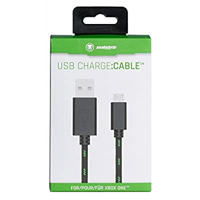 snakebyte USB Mesh Charge Cable 3m Black Green (Xbox One/PS4)