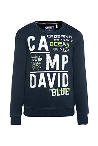 Camp David Herren Sweatshirt mit Logo-Design