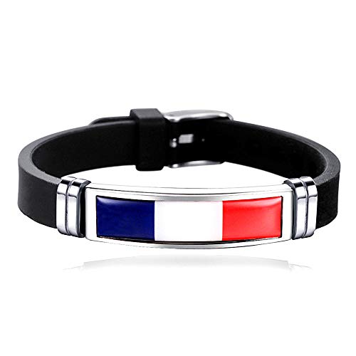 Verstellbares Armband mit Flaggenmotiv, französischer Sport, Reise-Souvenir, Geschenk, modisches Armband