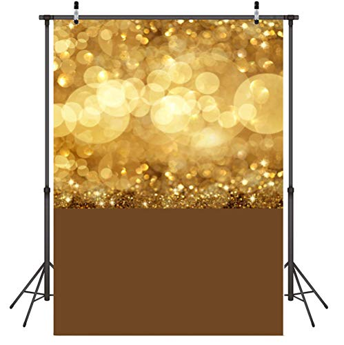 FEDZH gouden sterren fotografie achtergrond doek Vinyl voor foto achtergrond inklapbare foto achtergrond doek 3D achtergrond scherm 150cm(W)*210cm(H)