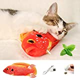DazSpirit Fish Cat Toy Electric Catnip Interactive Toys For Cats,Moving Wagging Fish Toy Indoor Cat Toys,Cat Kicker Fish Toy With Catnip, Usb Charging,Washable, Perfect For Biting, Chew And Kicking