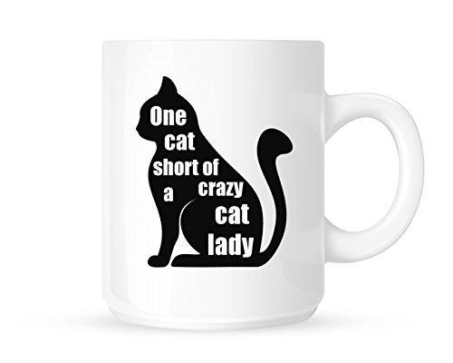 Un gato corto de un Crazy Cat Lady–divertido pet-lovers–té/café taza/taza–gran Idea de regalo