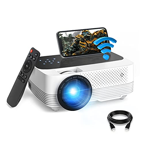 Mini Projector 1080P HD Supported, WiFi Projector, 6500Lux Film Projector...