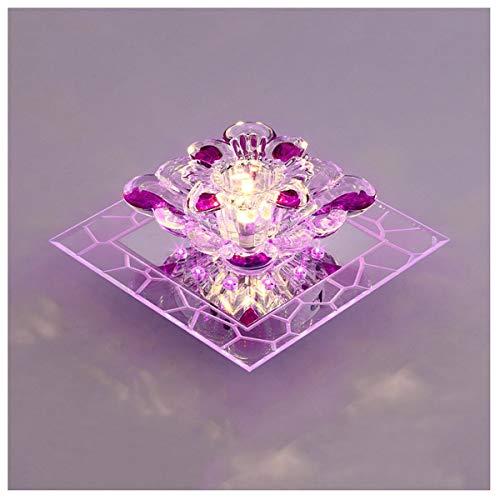5W LED Modern Kristall Design Deckenleuchte,Gang Deckenlampe Blume Style Deckenbeleuchtung Kronleuchter Kreative Pendelleuchte für...