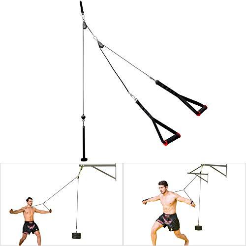 Musculation Poulie Haute Max Poids 50kg Exercice Pectoraux Triceps Avant Bras Epaules Dos Deltoïdes pour Chaque Groupe Musculaire