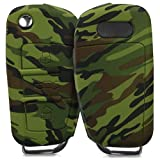 kwmobile Car Key Cover Compatible with Audi - Camouflage
