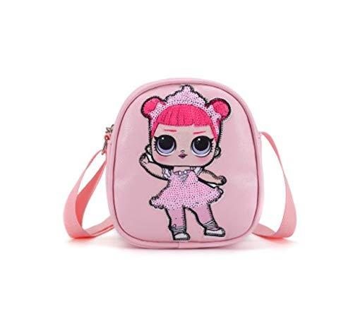 Acessório Zuunky Compatível com Mochila Bolsa Boneca Lol Doll Mini Original Crianças Brilho (ROSA-CLARO)