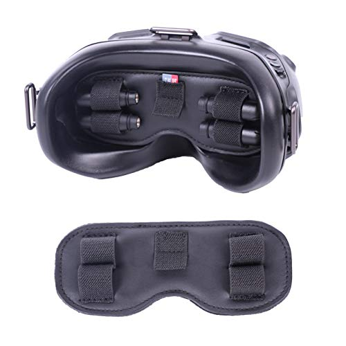 FPV gafas espuma pad almacenamiento Mat para DJI FPV gafas V2, 3 en 1 cubierta de lente protectora a prueba de polvo protector para DJI FPV mando a distancia 2
