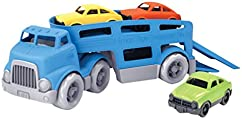 Green Toys Car Carrier Vehicle Set Toy, Blue, Standard
