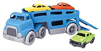 Green Toys Car Carrier Blue - Pretend Play Motor Skills Kids Toy Vehicle No BPA phthalates PVC Dishwasher Safe Recycled Plastic Made in USA.