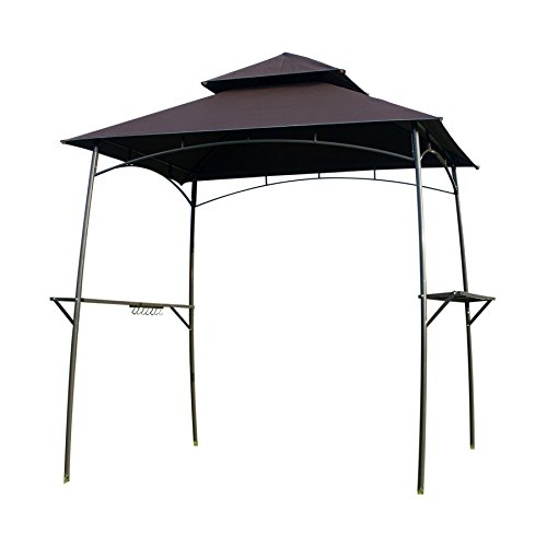 GOJOOASIS 2Pcs Led Barbecue Canopy Tent Double-Tier Grill Gazebo