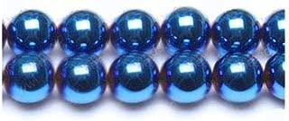 Strand 62+ Blue/Purple Hematite (Non Magnetic) 6mm Plain Round Beads GS17001-3 (Charming Beads)