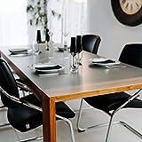 Profolio | Tischfolie feinmattiert für Glastische & Hochglanzoberflächen + abgeschrägte Kante | keine Luftblasen | Tischdecke, Schutzfolie 2mm dick | Made in Germany | Größe wählbar | 180 x 100 cm - 6