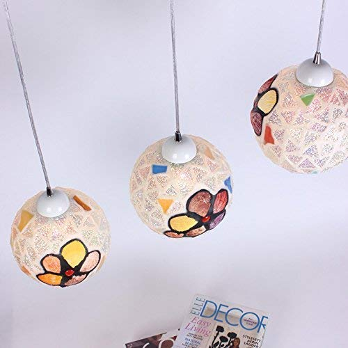 Hanglamp eenvoudige moderne moderne moderne moderne kleurrijke schelpen restaurants kroonluchters eetkamer lichten bar lampen eetkamer lampen kroonluchters drie enkele hoofd tuba, de kleine wijzerplaat stuurt 3 lampen