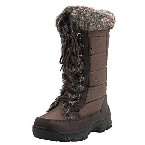 Shenji Zapatos de Invierno - Botas de Nieve para Mujer H7623 Marrón 36