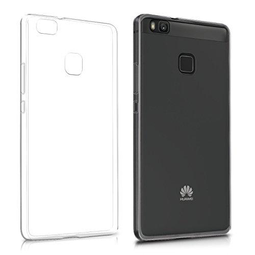 kwmobile Hülle kompatibel mit Huawei P9 Lite - Slim Hülle Handy Schutzhülle Silikon Backcover Cover Transparent