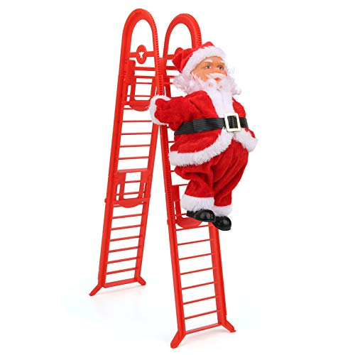 Alinory Christmas Ornament, Christmas Decorations, Durable Simple Installation Party Home for Showcase Christmas(Red Double Ladder (mask Type))