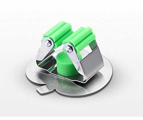 zhtao 304 Edelstahl Clip Mop Mop Rack Hakenfreien Selbstklebenden Perforierten Deck Besen Besenapfel Clip Mop Mop Rechenhaken Apple Upgrade/Grün