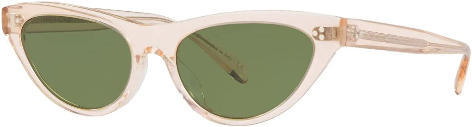 Oliver Peoples  Zasia  5379SU 53 165252  Sunglasses (Light Silk, Green C)