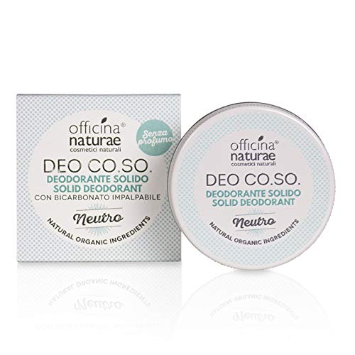 Officina Naturae Deo Co. So. Neutre sans Parfum Déodorant Solide Bio Plastique sans avec Bicarbonate 50 ML