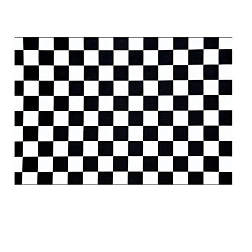 Pegatinas De Suelo De Mosaico En Blanco Y Negro Pegatinas De Azulejos Autoadhesivas a Prueba De Agua Pegatinas De Suelo Antideslizantes para Baño De Cocina Pegatinas De Suelo Decorativas para Baño