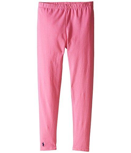 Polo Ralph Lauren Kids Solid Jersey Leggings Little Kids/Big Kids Maui Pink Girl's Casual Pants