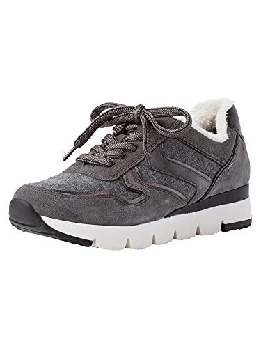 MARCO TOZZI Damen 2-2-23737-27 Leder Sneaker, Zapatillas Mujer, Dk Grey Comb, 42 EU