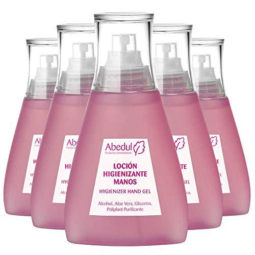 Spray Desinfectante Manos 120 ML | Alcohol 70% | PACK 5 UDS | Gel Desinfectante Manos | Gel Hidroalcoholico Manos Pequeño | Aloe Vera Glicerina Hidroalcohol
