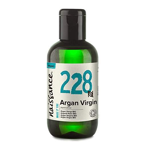 Naissance Aceite Vegetal de Argán de Marruecos BIO n. º 228-100ml - Puro, natural, vegano, certificado ecológico, sin hexano y no OGM - Hidratación natural para el cabello.