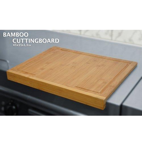 BBTradesales Cortar Bambu 45x35 cm, Tabla Corte Madera 45x35cm