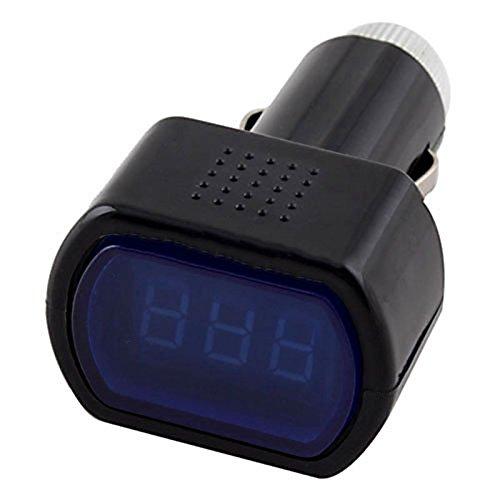 Naliovker R Digital LCD Zigarettenanzuender Spannung Panel Meter Monitor uto Volt Voltmeter Schwarz