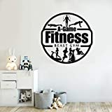 GYM deportes Fitness Logo Power Muscle entrenamiento físico DIY pared pegatina vinilo arte calcomanía culturismo Club dormitorio decoración del hogar Mural