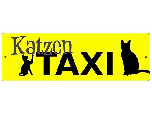 Interluxe KUNSTSTOFFSCHILD Autoschild KATZENTAXI Autodeko Geschenk Saugnapfschild