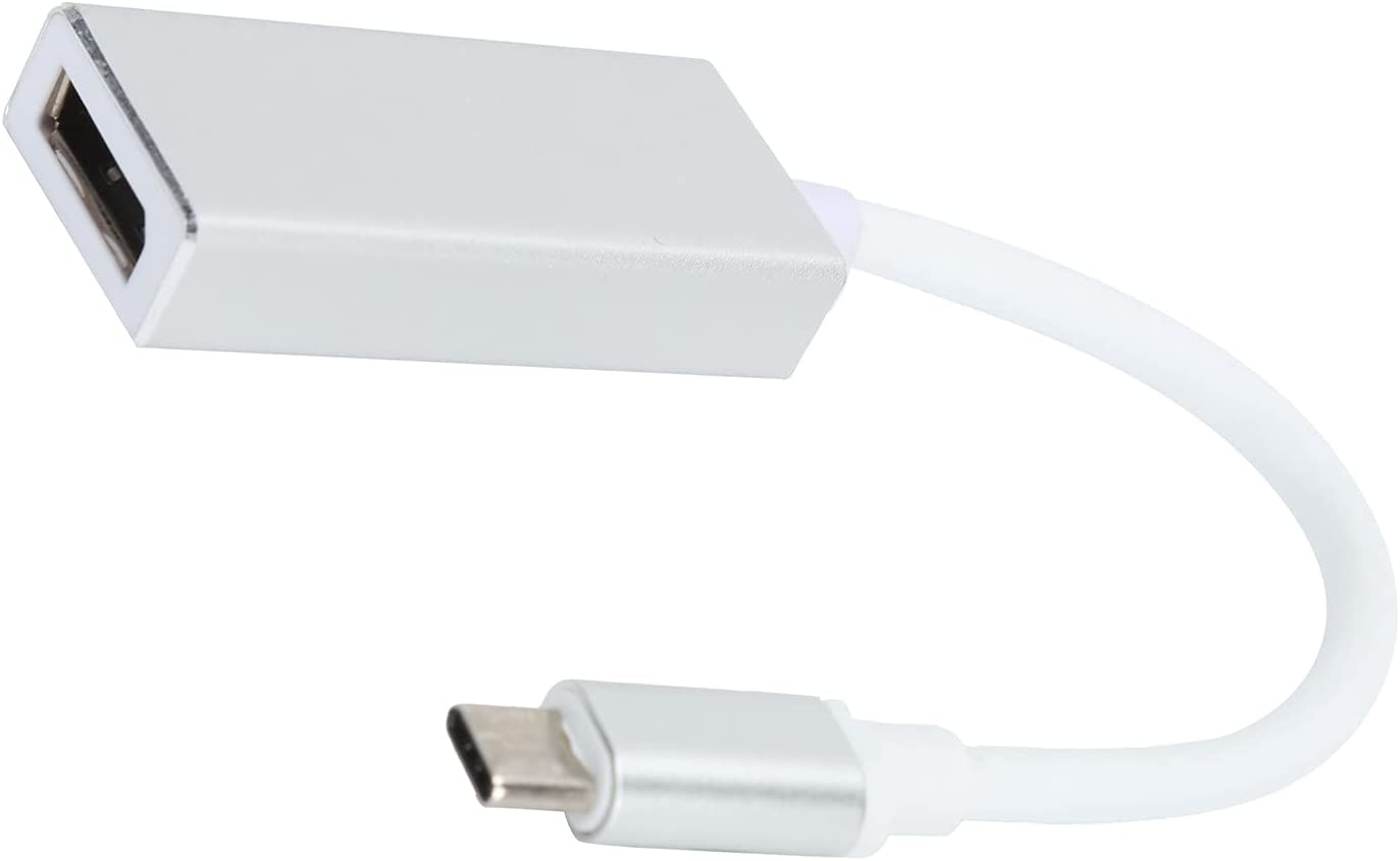 USB C to Display Port Adapter,Type‑C to DP Converter 10Gbps 4K 30HZ 1080P 60HZ AV Cable Adapter Hub Compatible with MacBook Air 12 Support for USB3.1 Output Terminal External