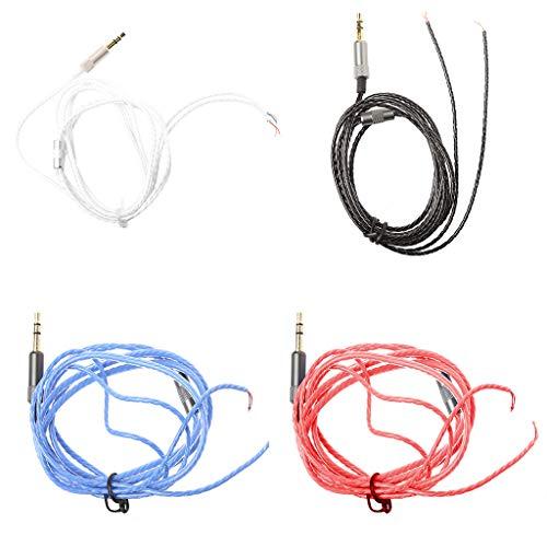 FKY Cable de audio de repuesto para auriculares de 3,5 mm, sin micrófono