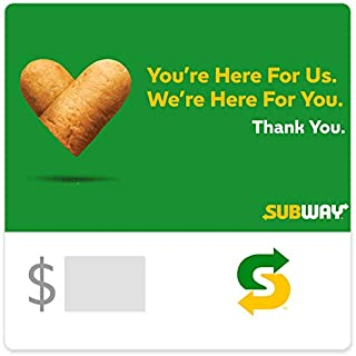Subway Gift Cards - Email Delivery