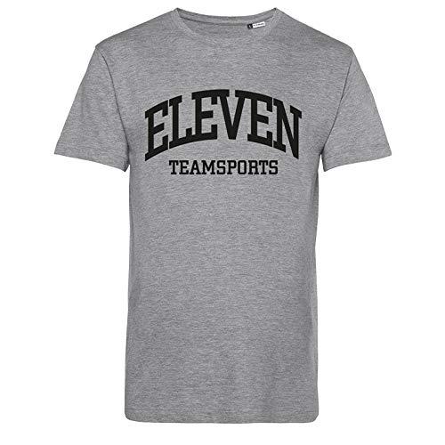 11teamsports Eleven T-Shirt Grau Schwarz