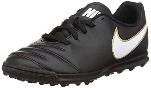 Nike Tiempo Rio III TF, Unisex-Kinder Fußballschuhe, Schwarz (Black/White), 38.5 EU (5.5 UK)
