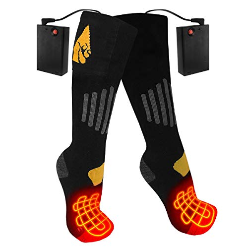 ActionHeat AA Battery Heated Socks - Unisex Cotton Warm Socks w/Built-in Heat, FIR Heat Technology, 4.5V Heating Socks