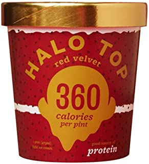 Halo Top Red Velvet Ice Cream,, 16 Ounce (Pack of 8)