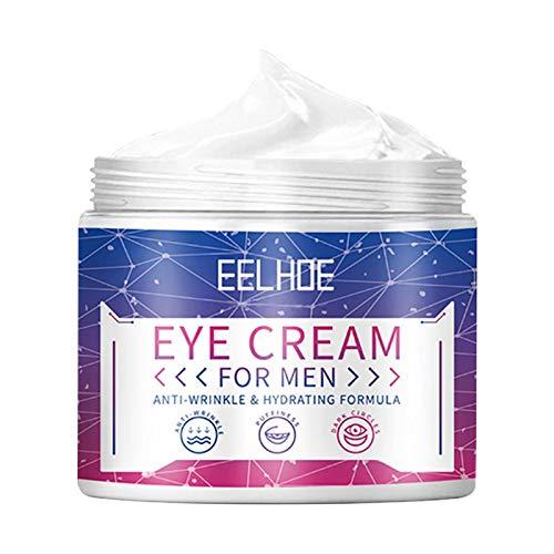 FECHO Crema para los Ojos para Hombres Productos para el Tratamiento de los Ojos Crema Ligera para los Ojos Esencia hidratante Natural para el Cuidado de Las ojeras y la hinchazón