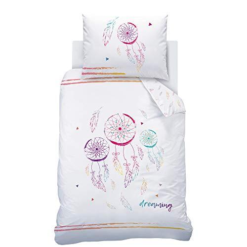 Matt&Rose Dreaming Parure de lit 140 x 200 cm avec taie d'oreiller 70 x 90 cm et housse de couette 140 x 200 cm